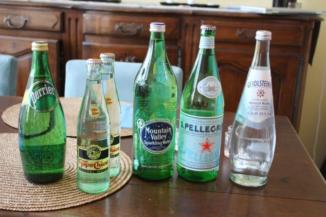 Sparkling Water Tasting