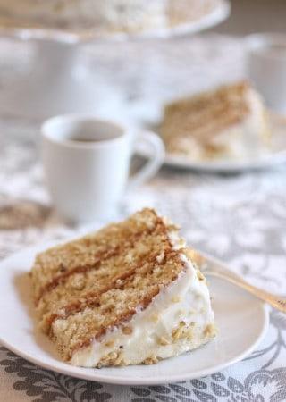 Italian Cream Cake | ForTheFeast.com #italian #cake #delicious #dessert