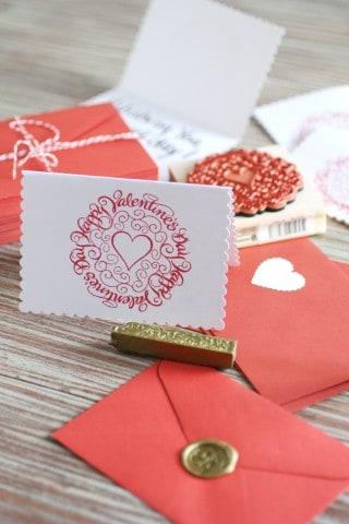 DIY Red and White Valentine's Day Card
