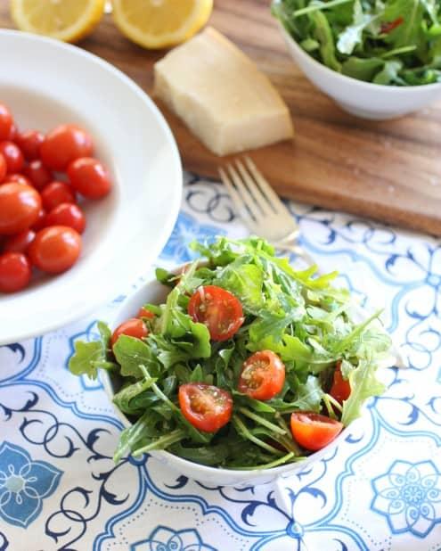 Arugula, Parmigiano, and Cherry Tomato Salad