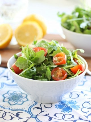 Arugula, Parmigiano, and Cherry Tomato Salad