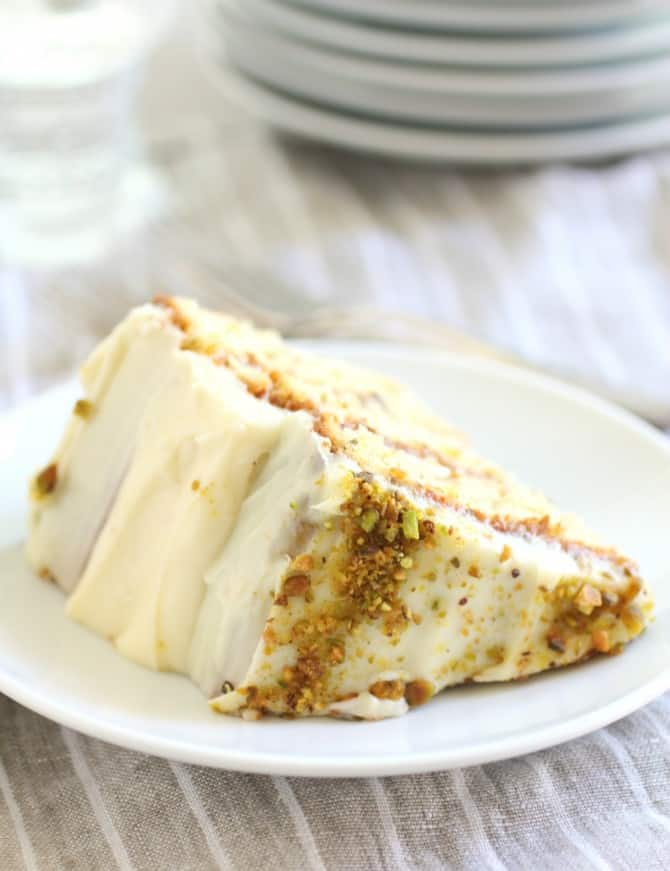 Pistachio and Apricot Cake