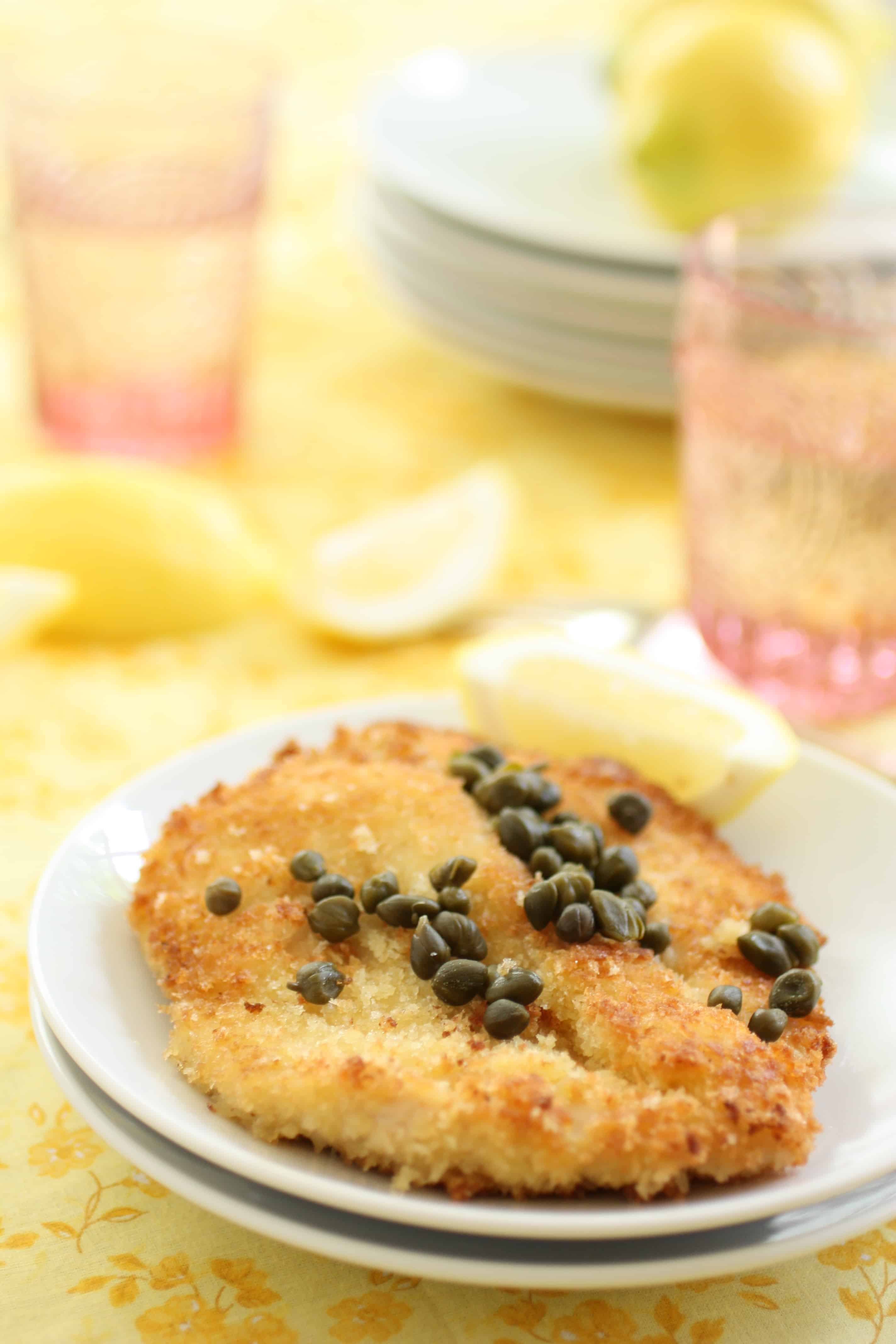 Panko Chicken with Lemon and Capers