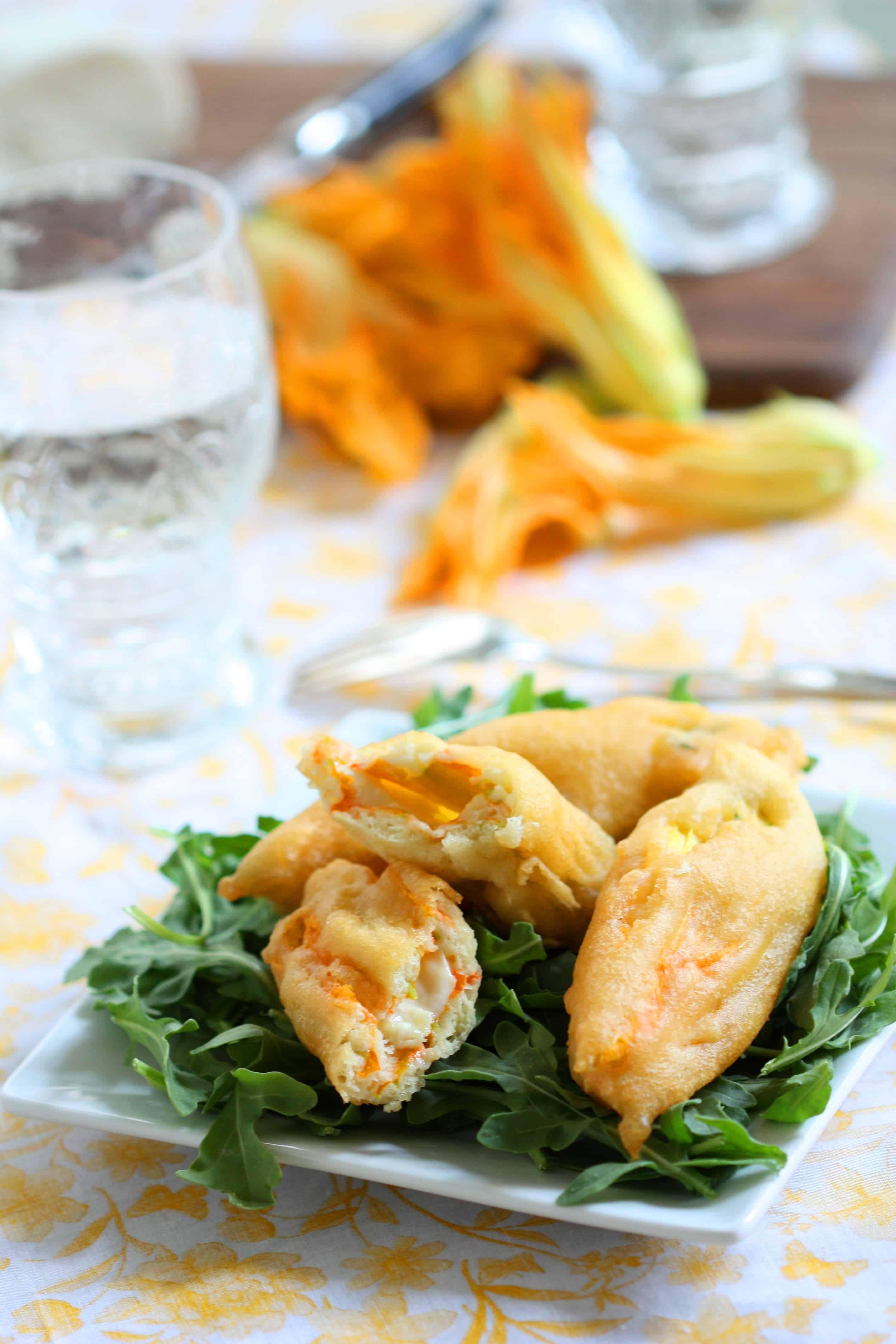Appetizer Zucchini Blossoms