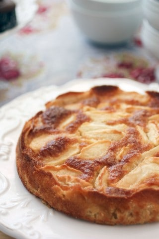 French Apple Cake | ForTheFeast.com #cake #french #apples