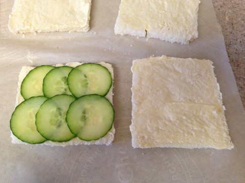 Quick Assembly of Cucumber Tea Sandwiches