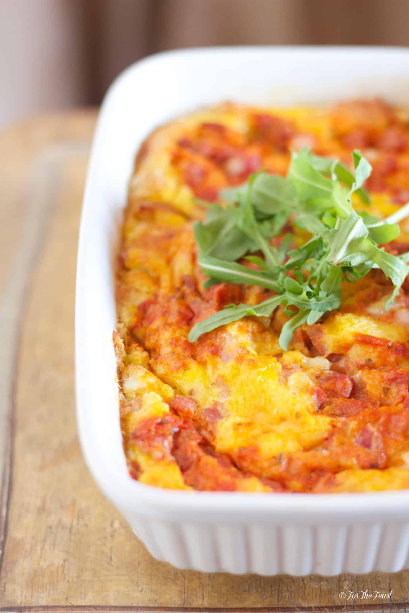 Italian breakfast casserole for Italian breakfast