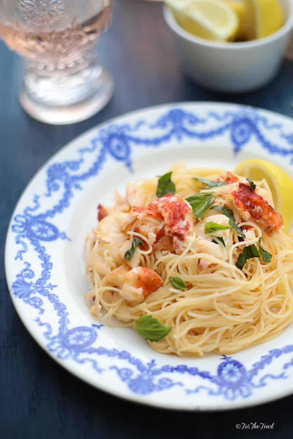 Lobster and Mascarpone Lemon Sauce ForTheFeast.com #lobster