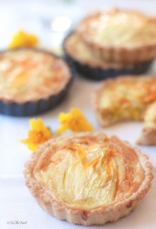 An Easy Zucchini Flower Quiche | ForTheFeast.com #zucchini #delicious #recipe