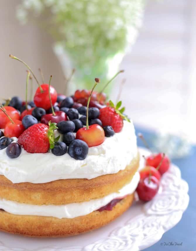 Victoria Sponge Cake | ForTheFeast.com #dessert #cake #teatime #brunch