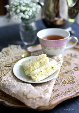 Egg Salad Finger Sandwiches | ForTheFeast.com #teatime