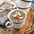 Lentil Soup with Goat Cheese | http://www.forthefeast.com #soup #recipe