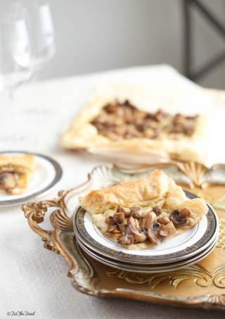 Leek Mushroom and Goat Cheese Tart #ForTheFeast  www.ForTheFeast.com