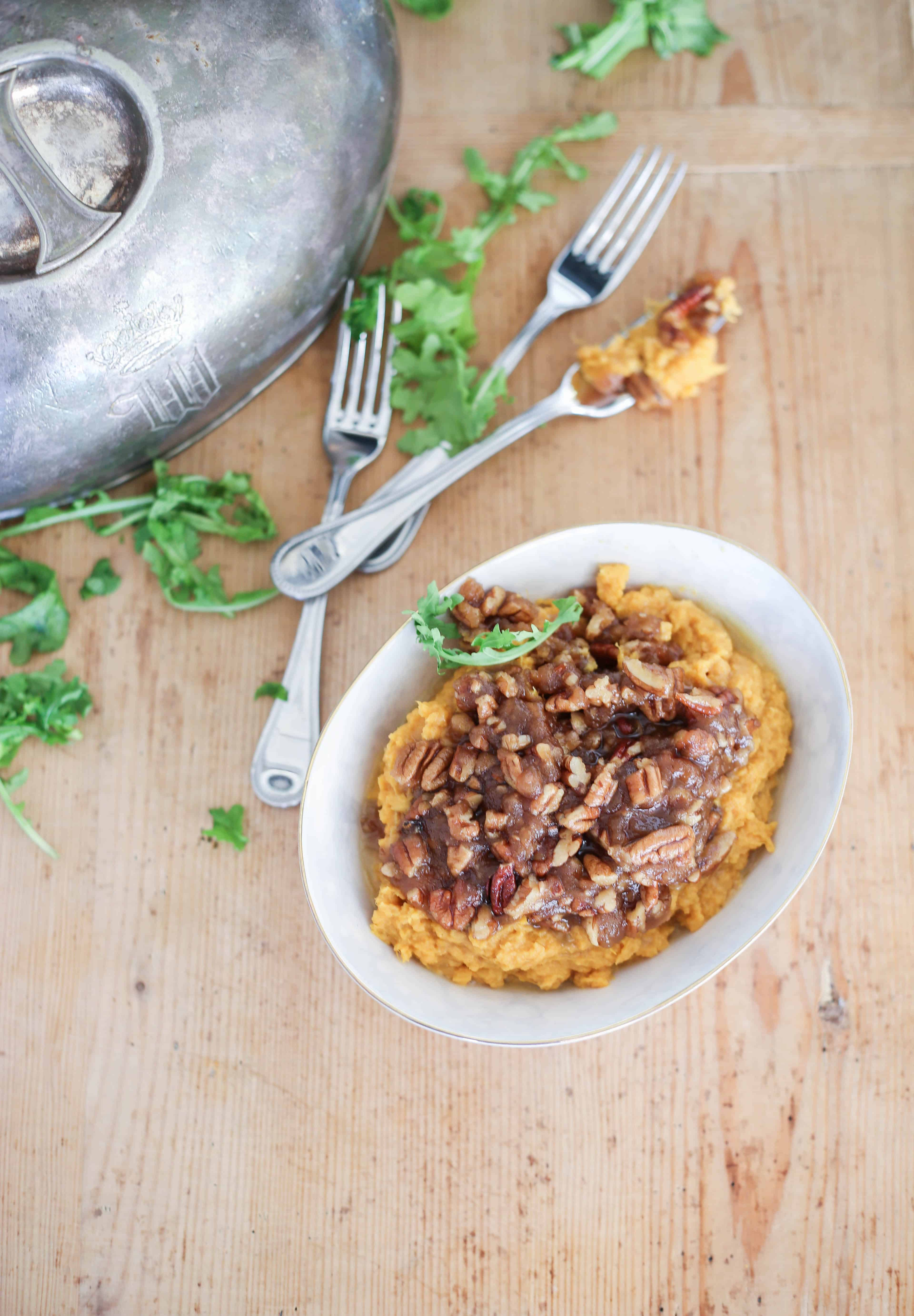 Southern Sweet Potato Casserole with Praline Topping #forthefeast #holiday
