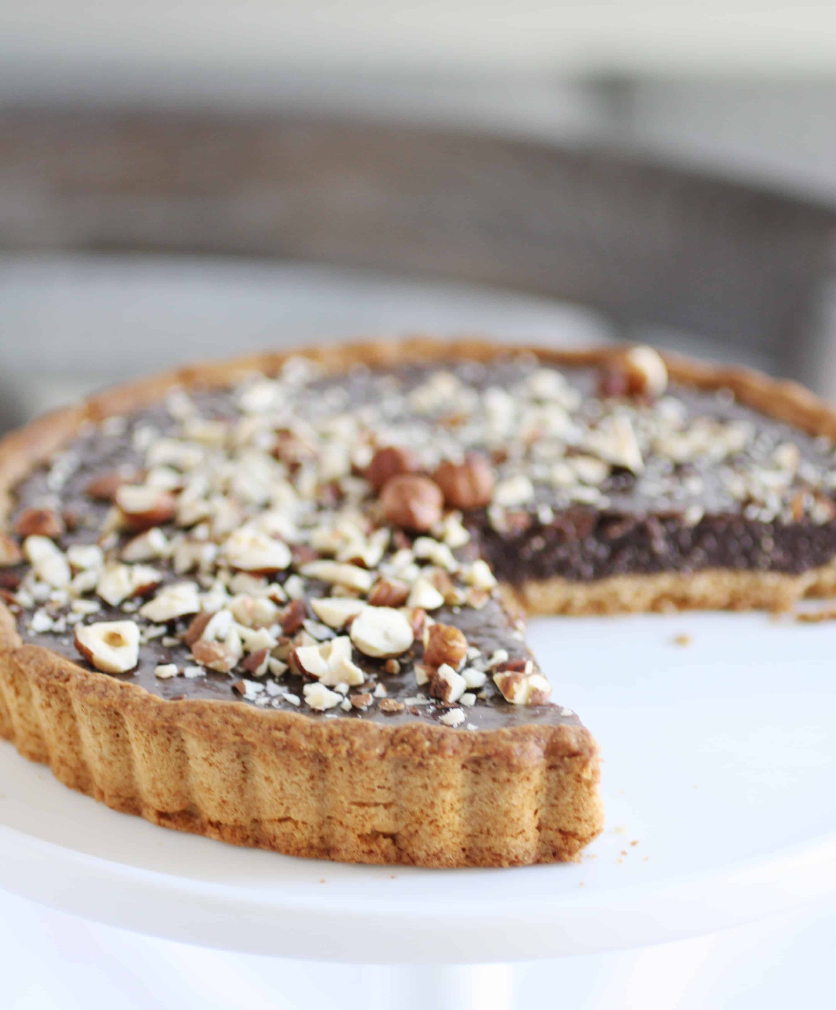 chocolate hazelnut nutella tart