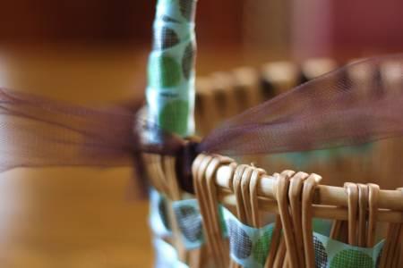 Basket Brown Trim Tie