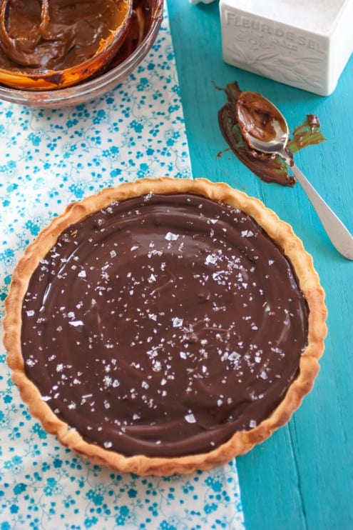 caramel and chocolate tart-2