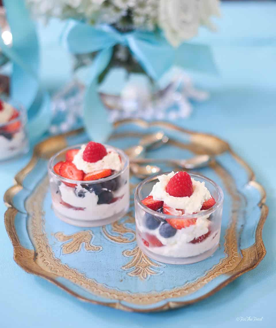 Berry Parfaits | www.ForTheFeast.com #dessert #berries