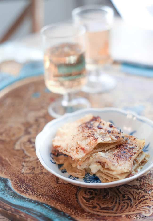 Ham and Ricotta Lasagne with Pesto