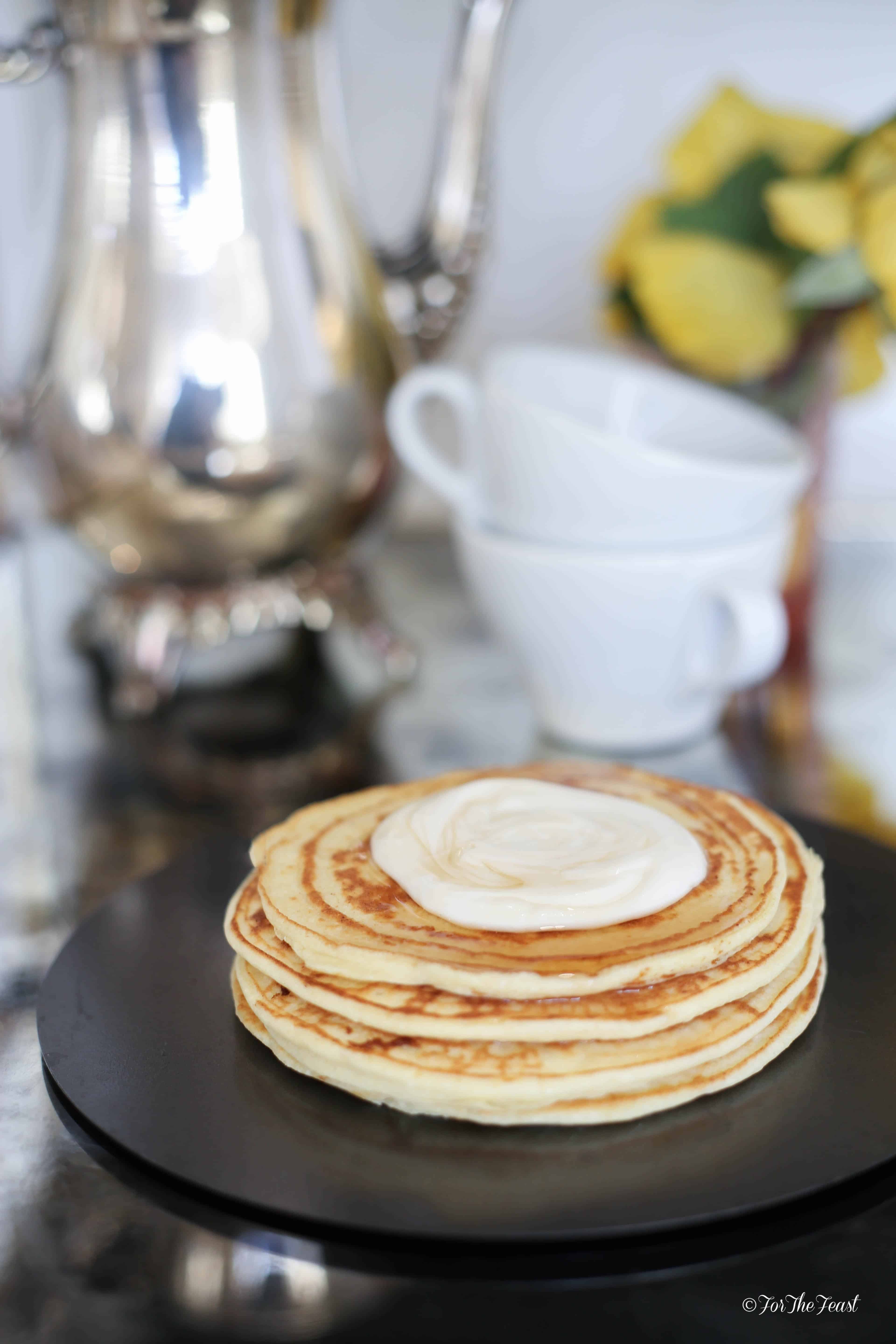 Ricotta Pancakes #ForTheFeast #recipe #breakfast