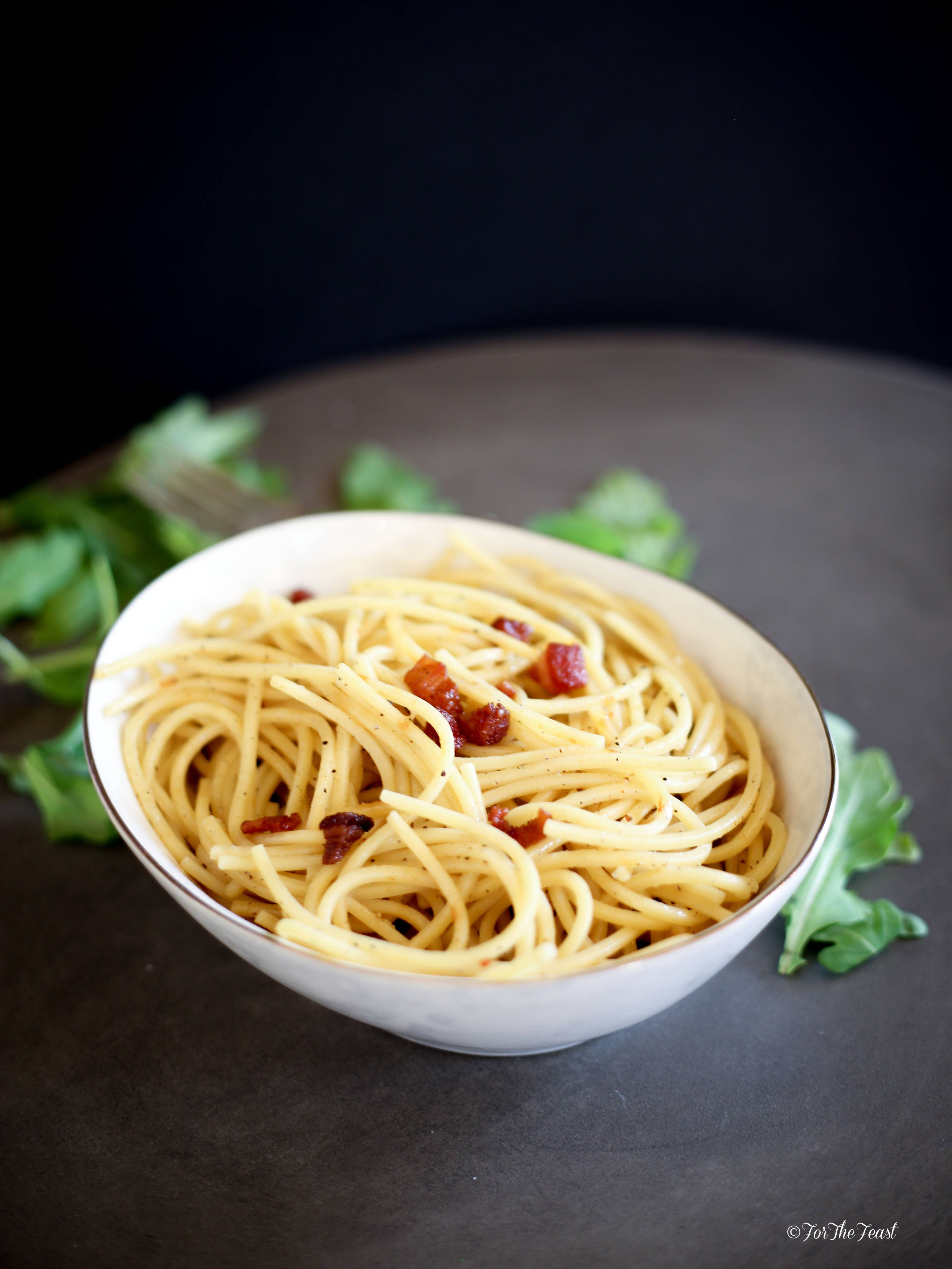 Pasta, Pancetta, and Parma Cheese #forthefeast #italian #recipe