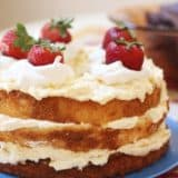 Angel Food Cake with Pineapple Whipped Cream 1