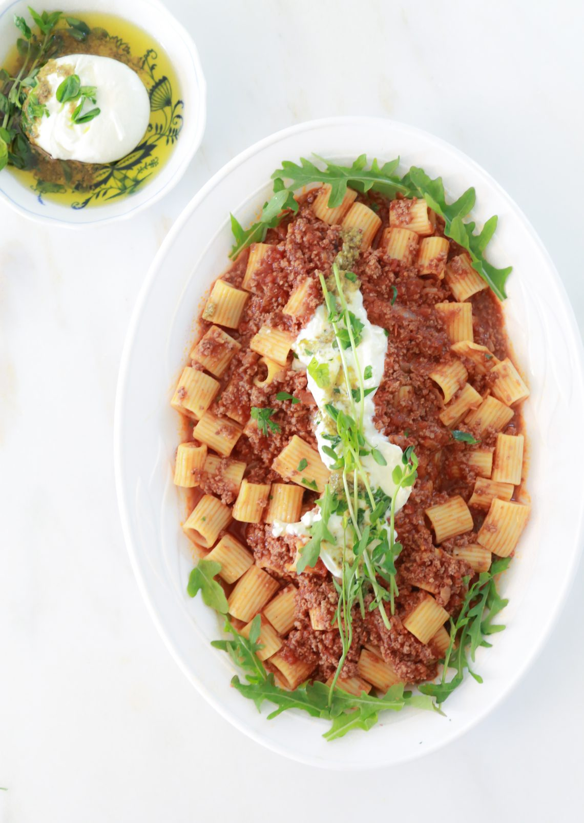 Rigatoni Bolognese with Ground Beef 1