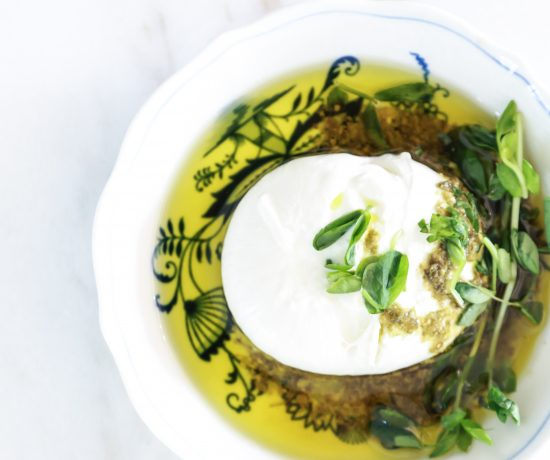 Burrata in Pesto