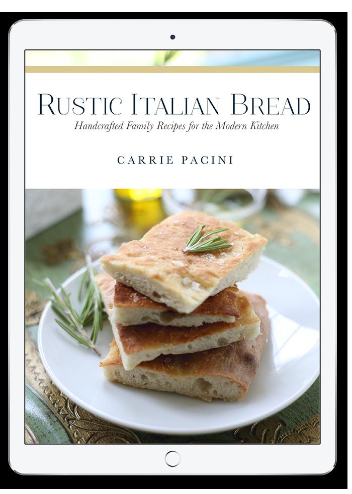 Rustic Italian Bread Book on Tablet