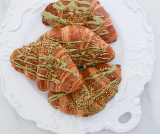 Croissant with Pistachio Cream